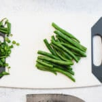 How to trim green beans