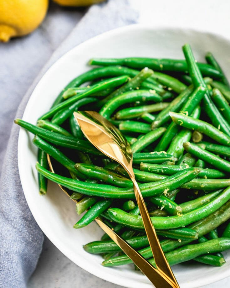 Lemony Steamed Green Beans