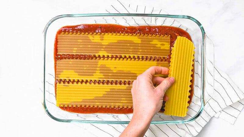 Layering lasagna: step 1