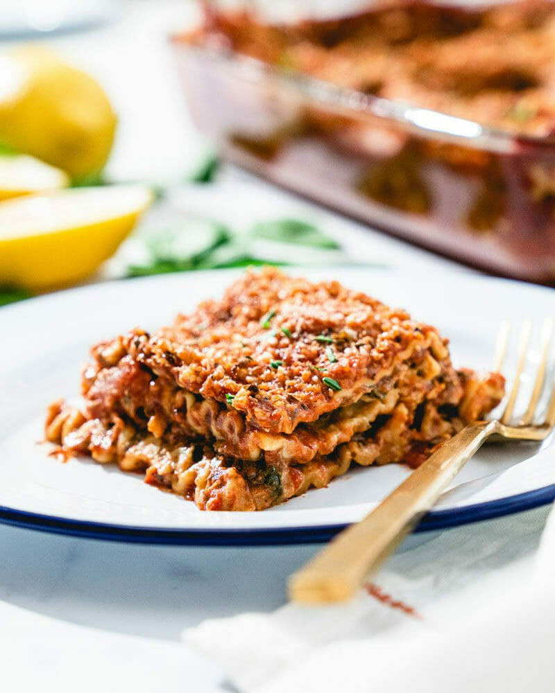 Favorite Vegan Lasagna Easy Dairy Free A Couple Cooks
