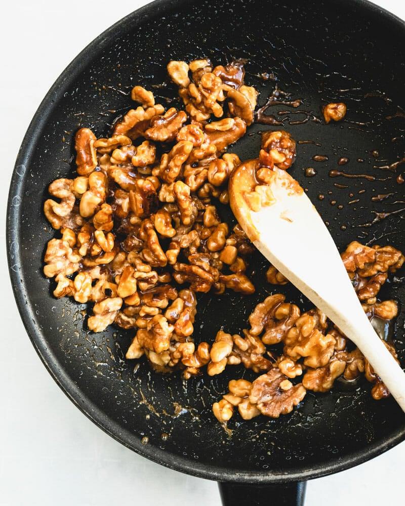 Easy glazed walnuts