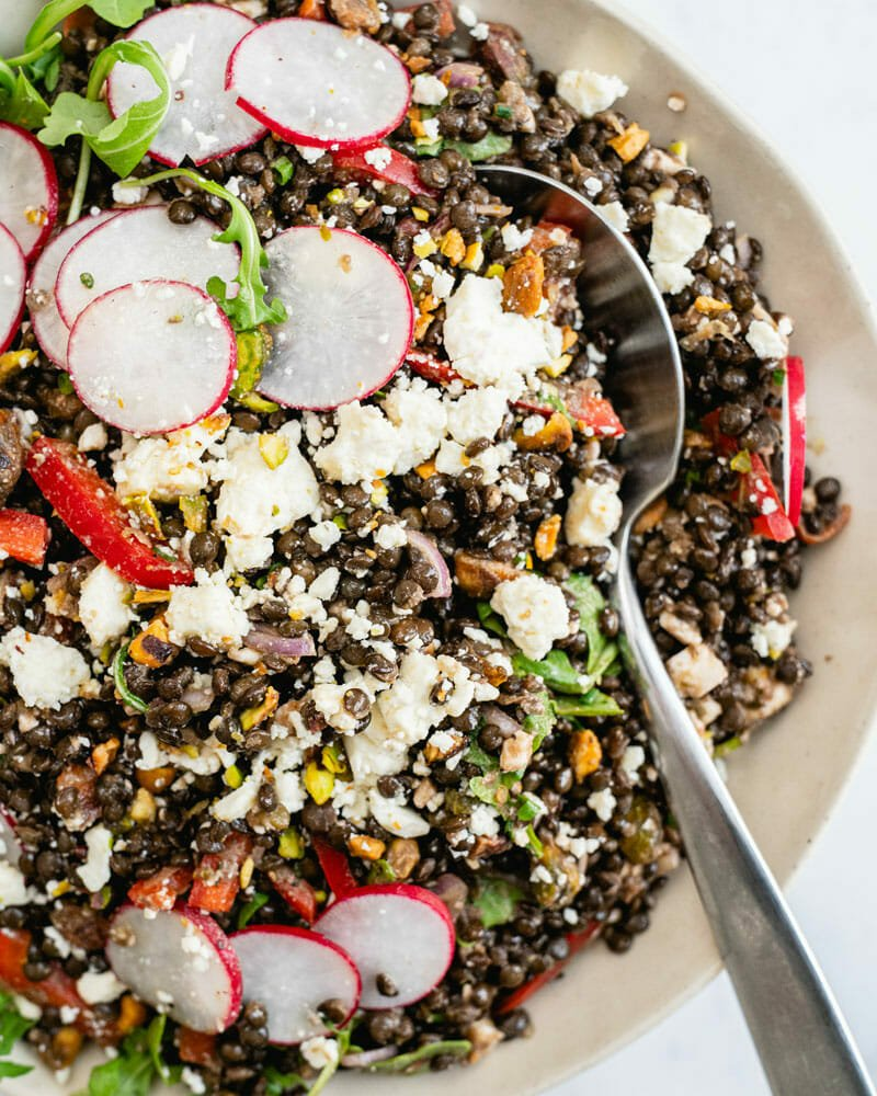 Lentil Salad With Feta Healthy Side Dish Or Lunch A Couple Cooks