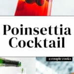 Poinsettia Drink -- Cranberry Champagne Cocktail