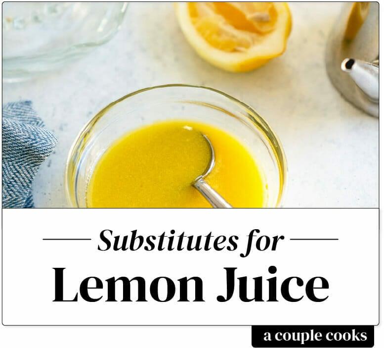 Substitute for lemon juice