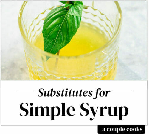 Simple Syrup Substitute