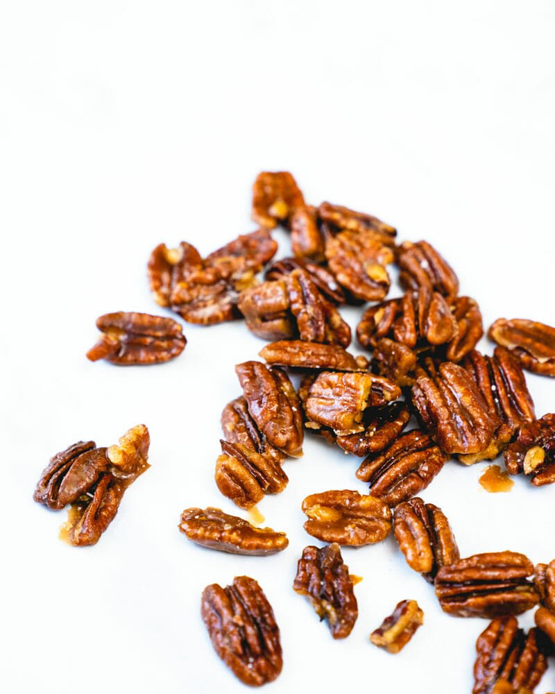 Pecans with maple glaze