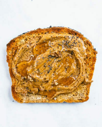 Toast with almond butter