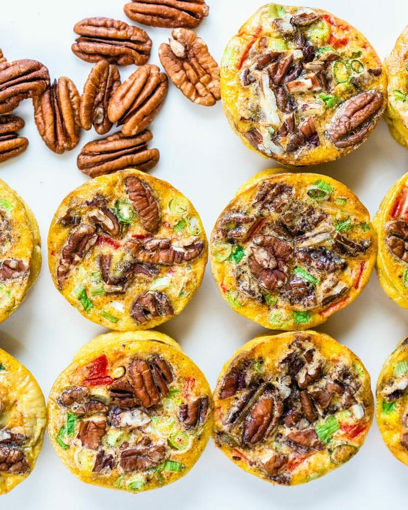 Pecan & Veggie Mini Frittatas