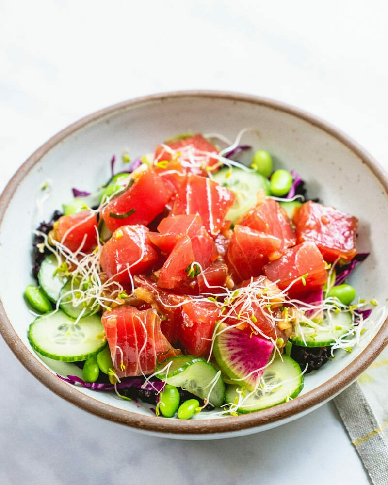 Best Homemade Poke Bowl Recipe A Couple Cooks