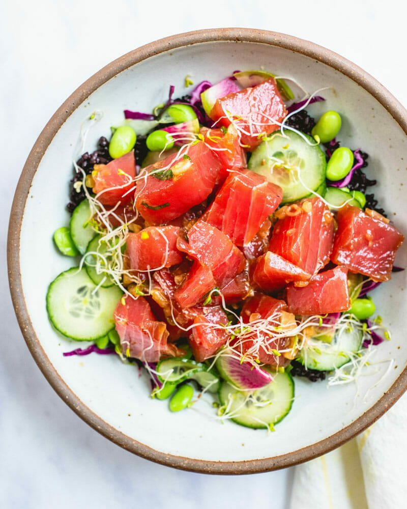 Poke bowl topping ideas