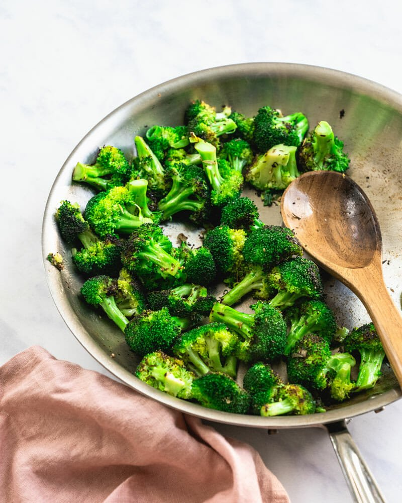 Broccoli in pan