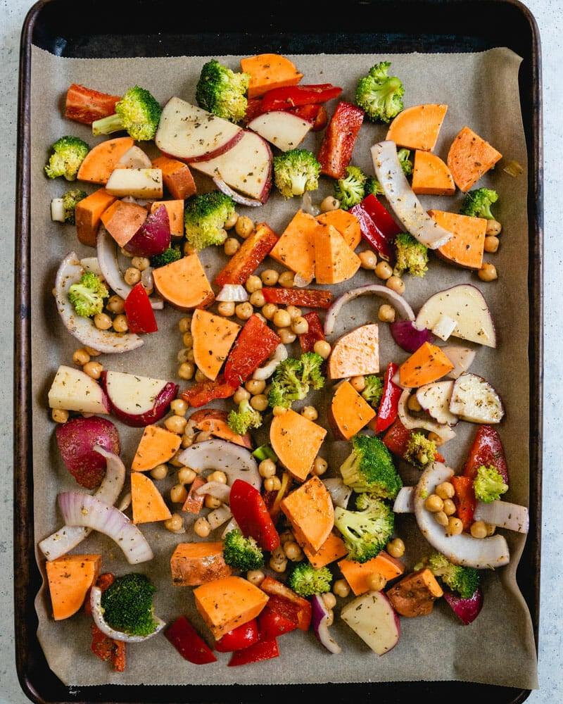 Sheet pan dinner