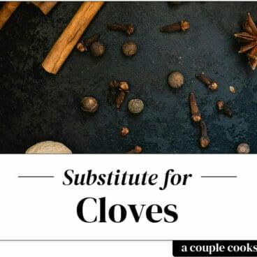 Substitute for cloves