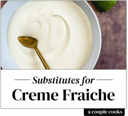 Substitute for creme fraiche