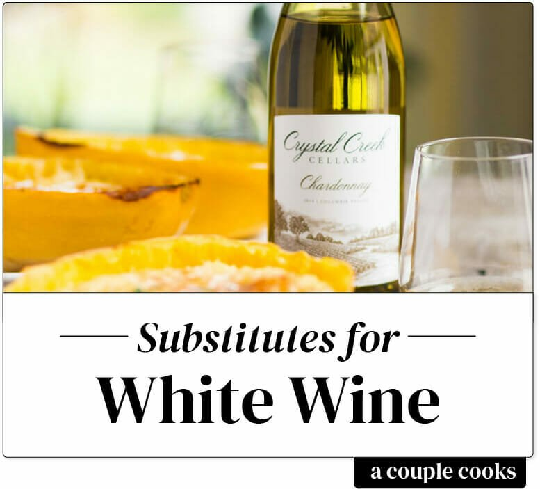 Substitute for white wine in cooking
