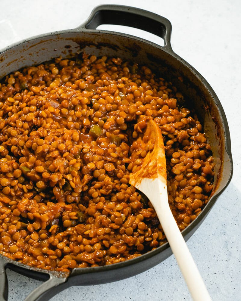 Sloppy Joe lentil filling