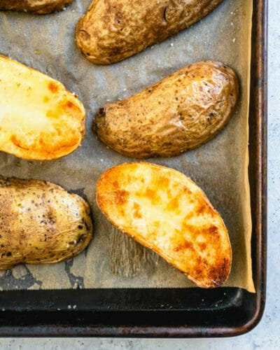 Quick baked potatoes