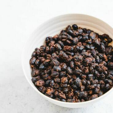 Roasted black beans