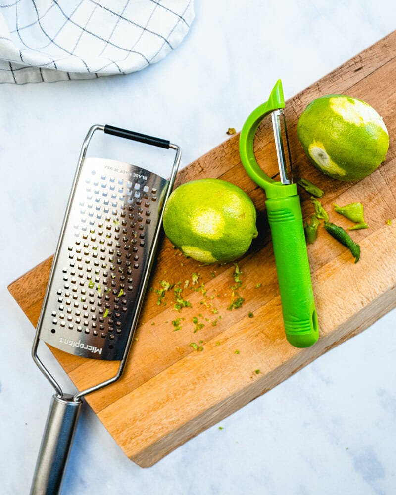 How to zest a lime: microplane & peeler