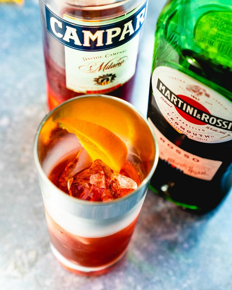 Americano: Campari and vermouth
