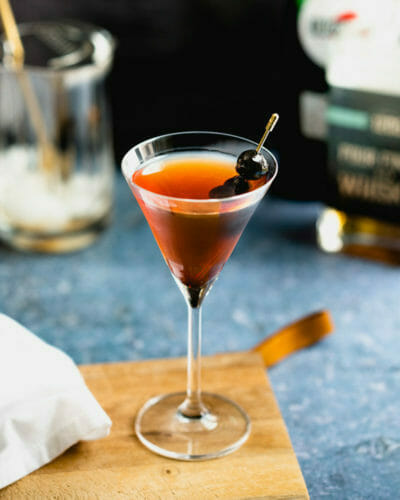 Manhattan cocktail with Luxardo cherry