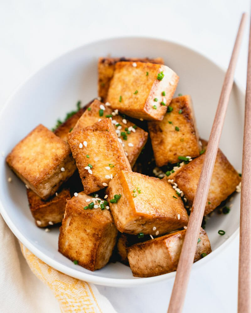 Pan fried tofu