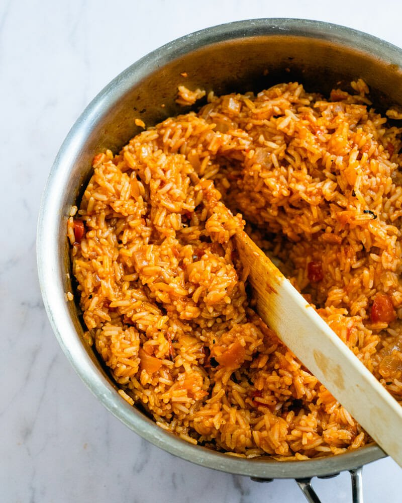 Spanish Rice And Beans Easy Pantry Meal A Couple Cooks