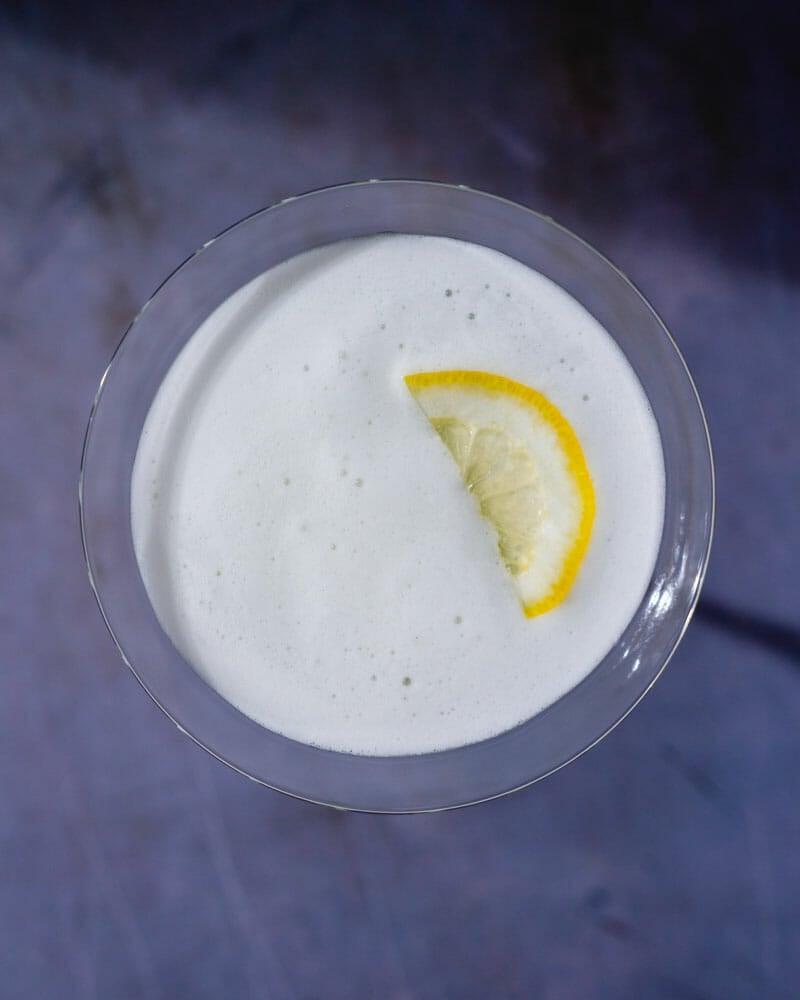 Egg white cocktail foam