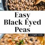 Easy Black Eyed Peas