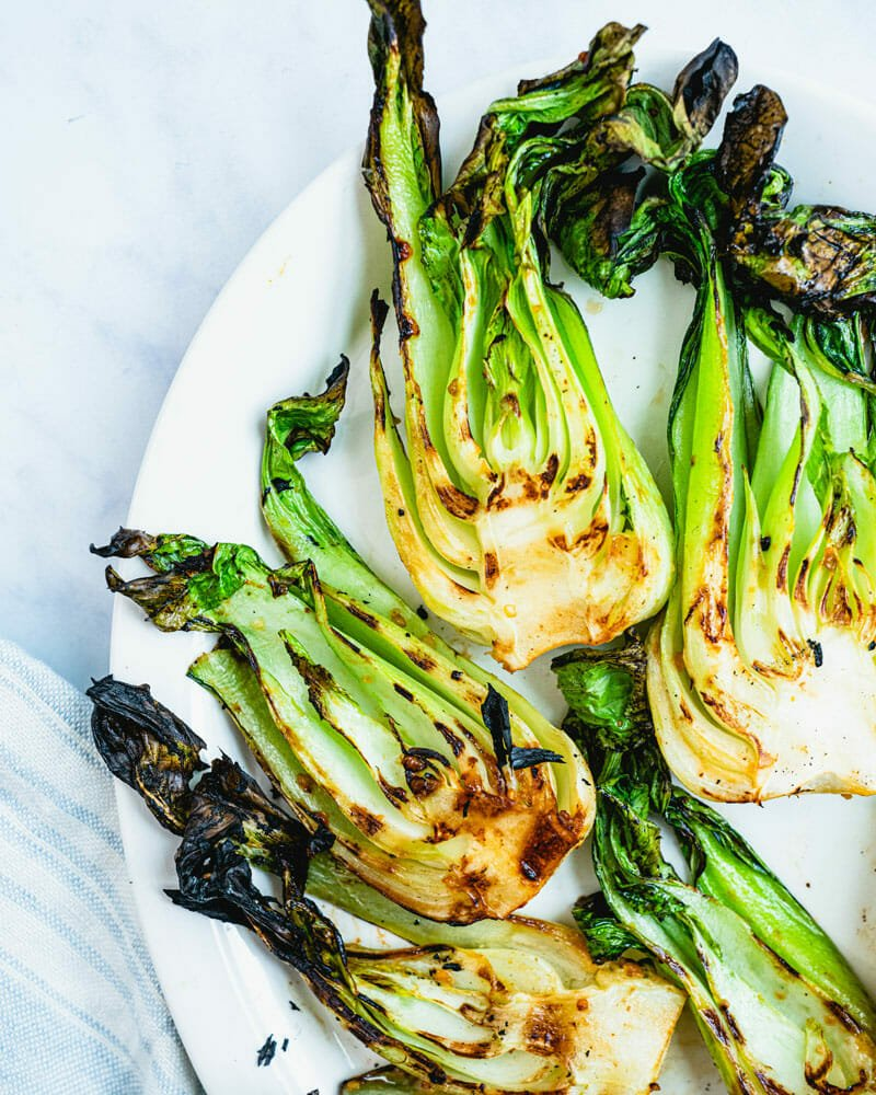 Grilled Bok Choy A Couple Cooks