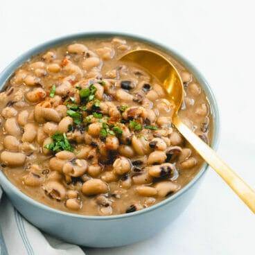 Instant Pot black eyed peas