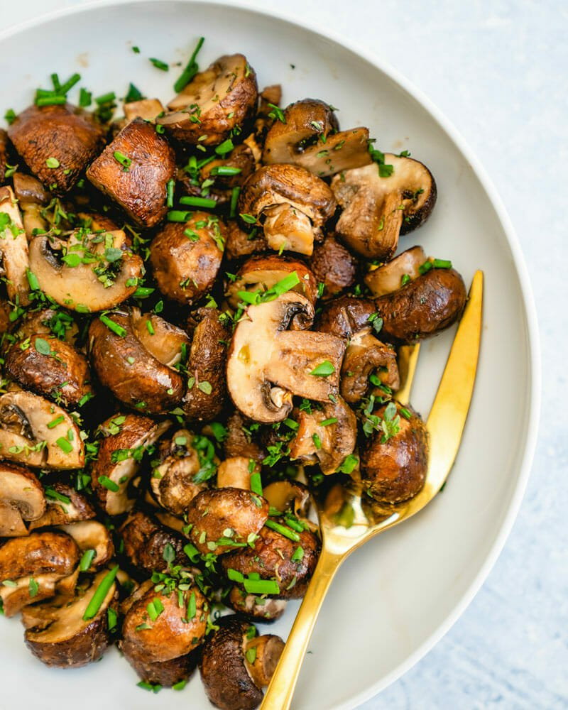 Roasted mushrooms