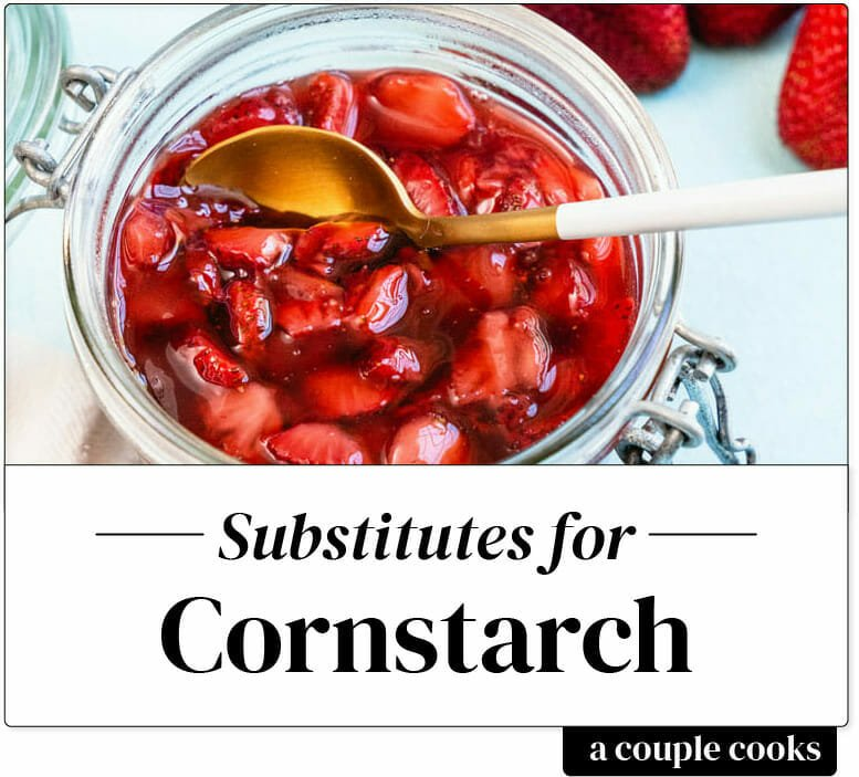 Substitutes for Cornstarch