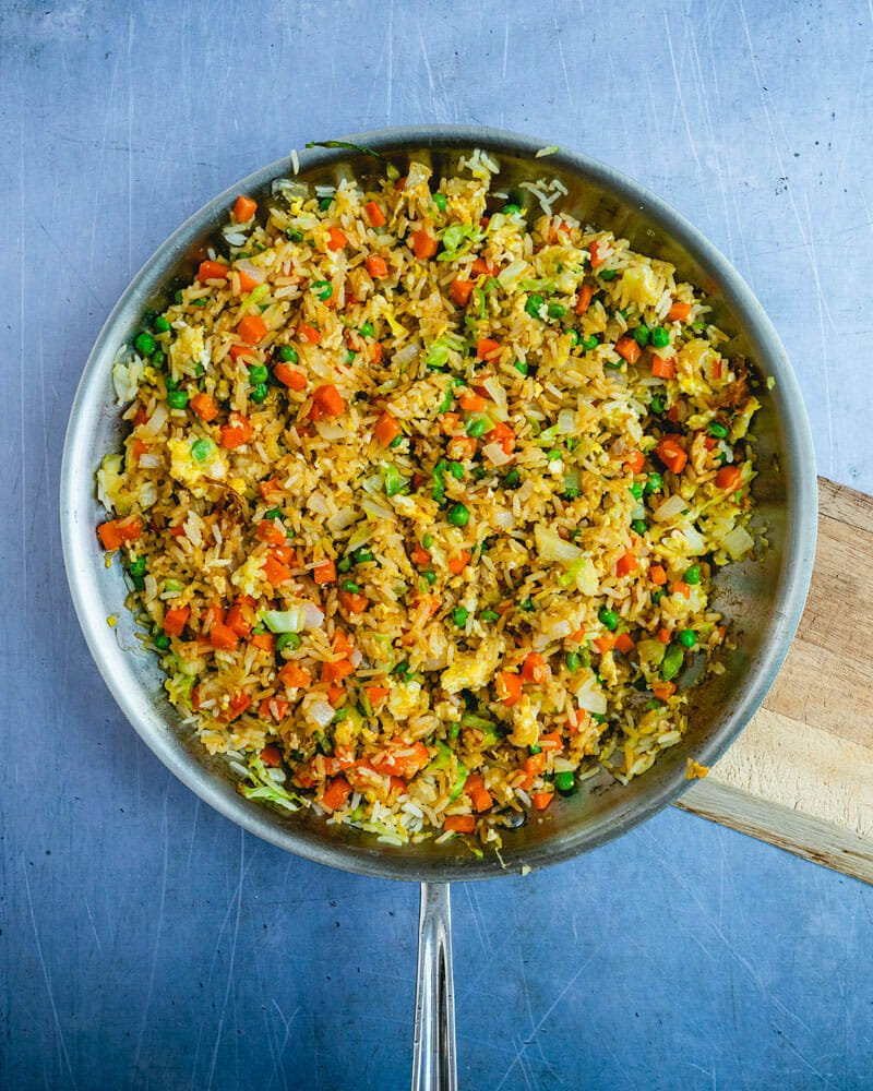 Easy Vegetable Fried Rice A Couple Cooks