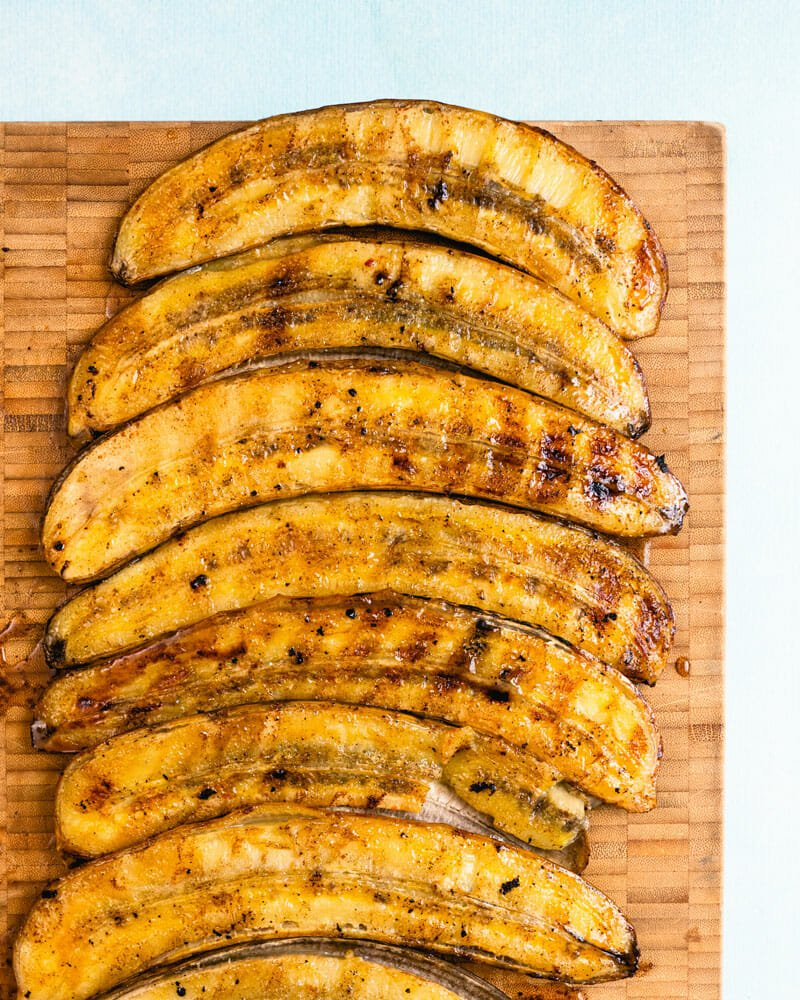 How to grill bananas