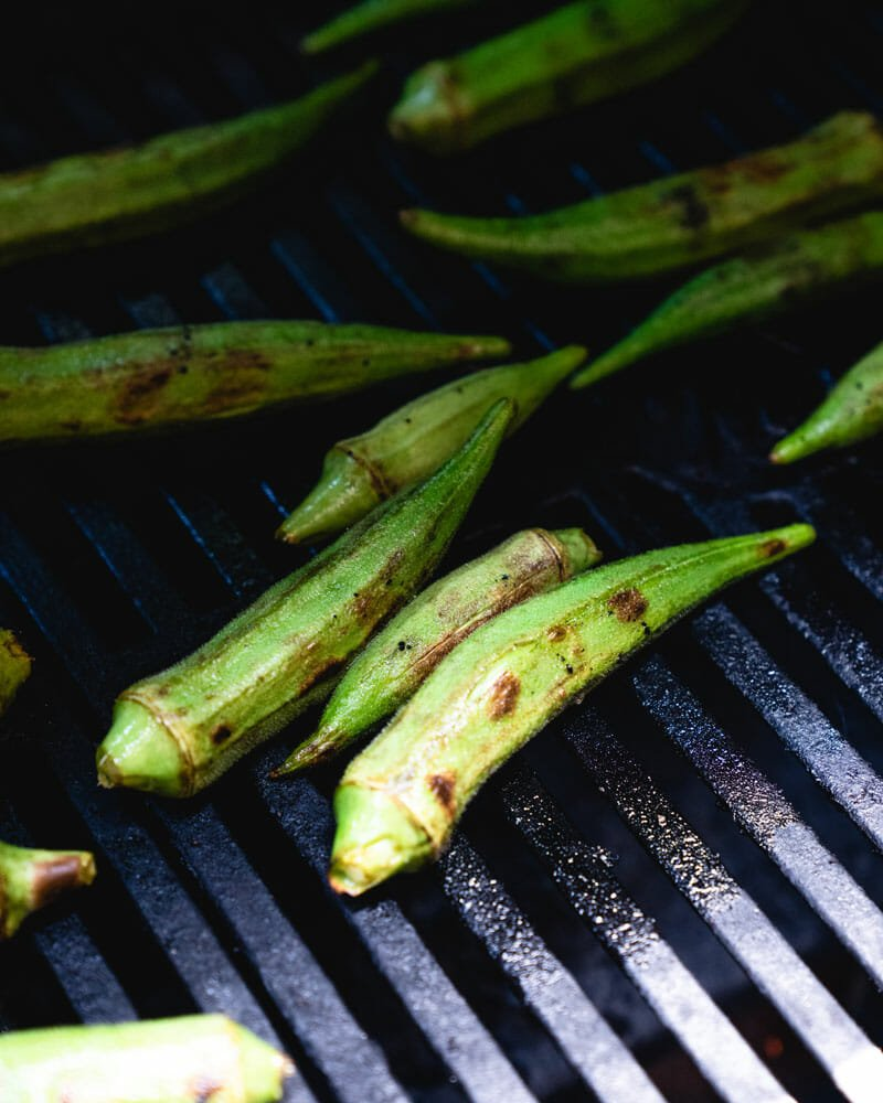 How to grill okra