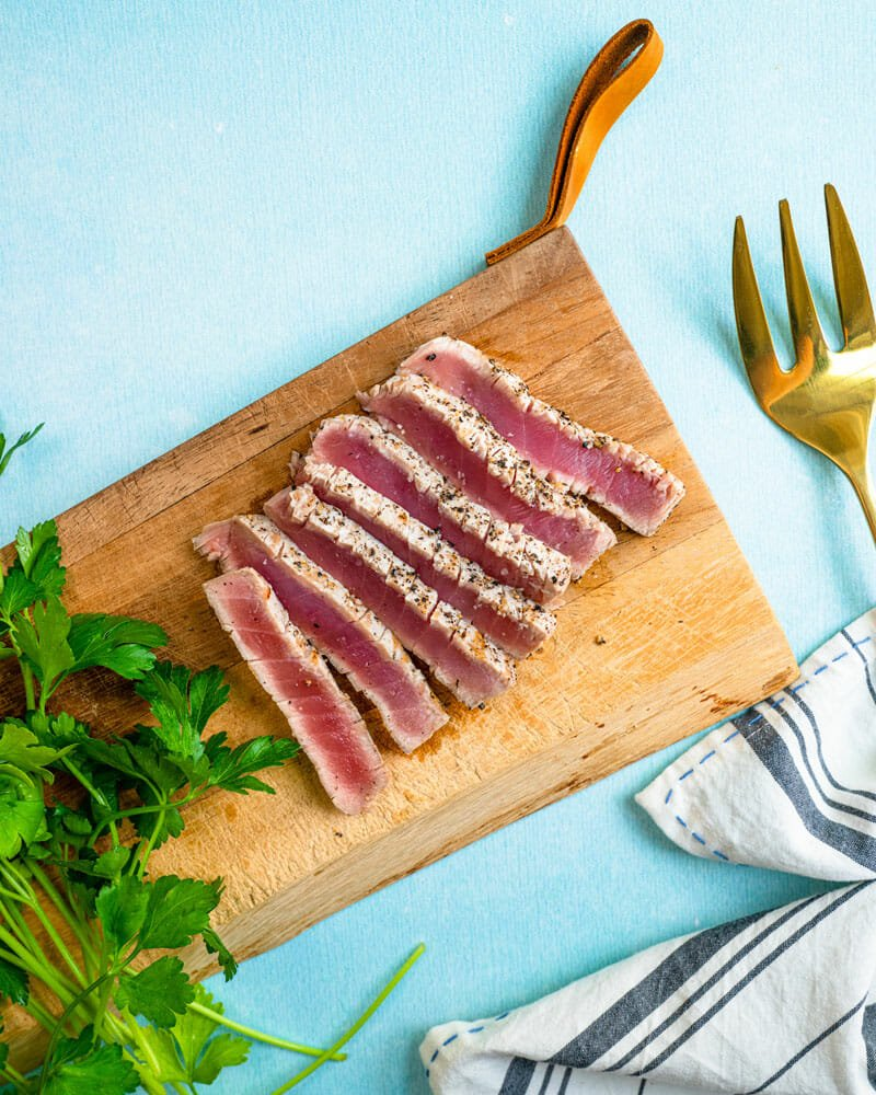 Seared grilled tuna
