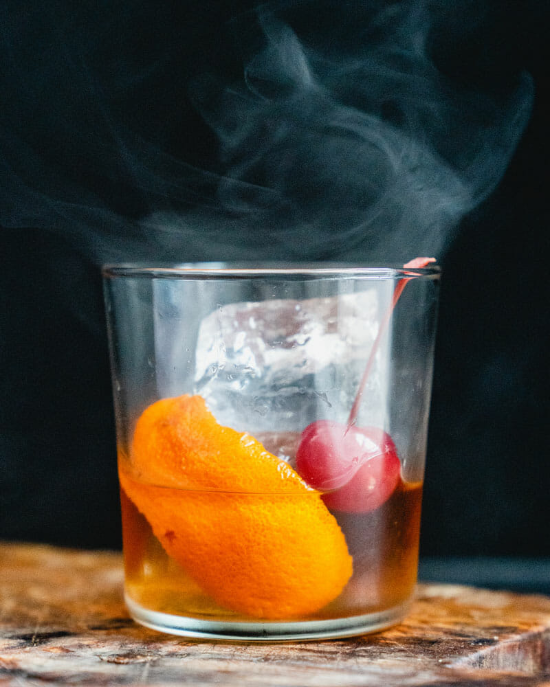 Smoked old fashioned