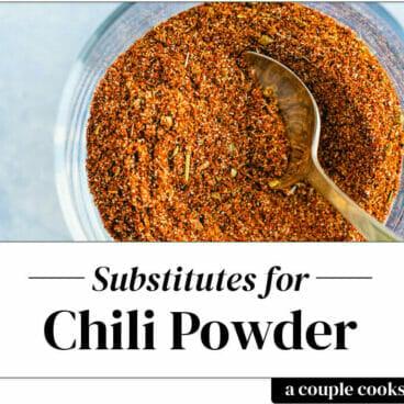 Chili powder substitute