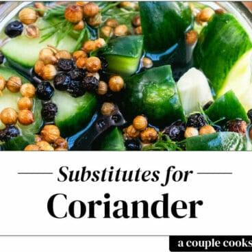 Coriander substitute