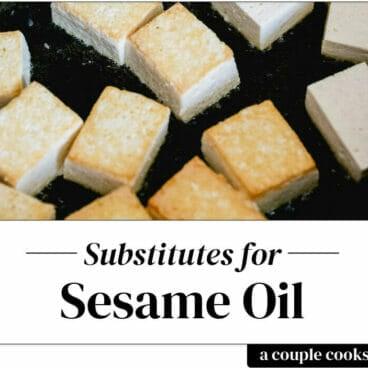 Sesame oil substitute
