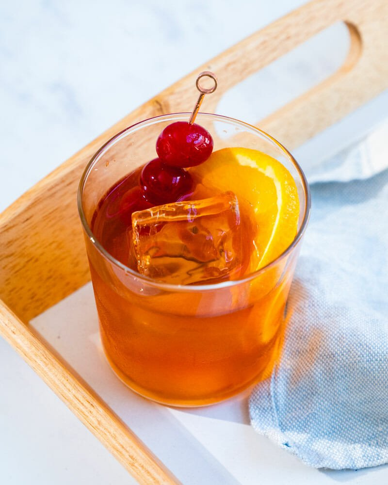 Wisconsin Old Fashioned: sweet, sour, press