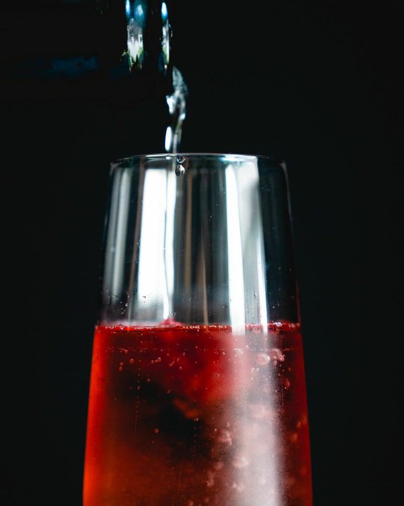 Chambord cocktail