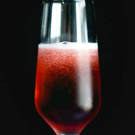 Chambord and champage