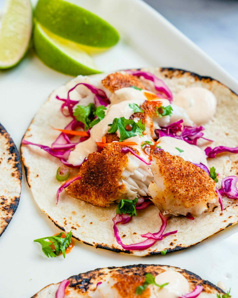 Fish taco slaw