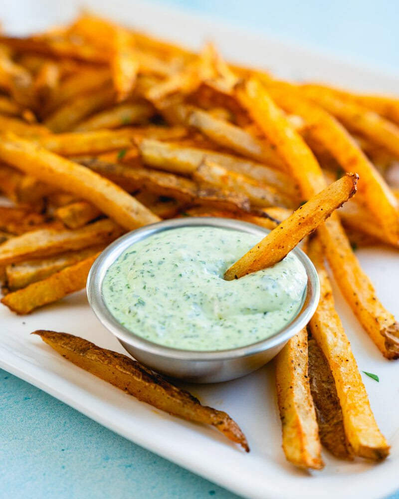 Healthy baked fries