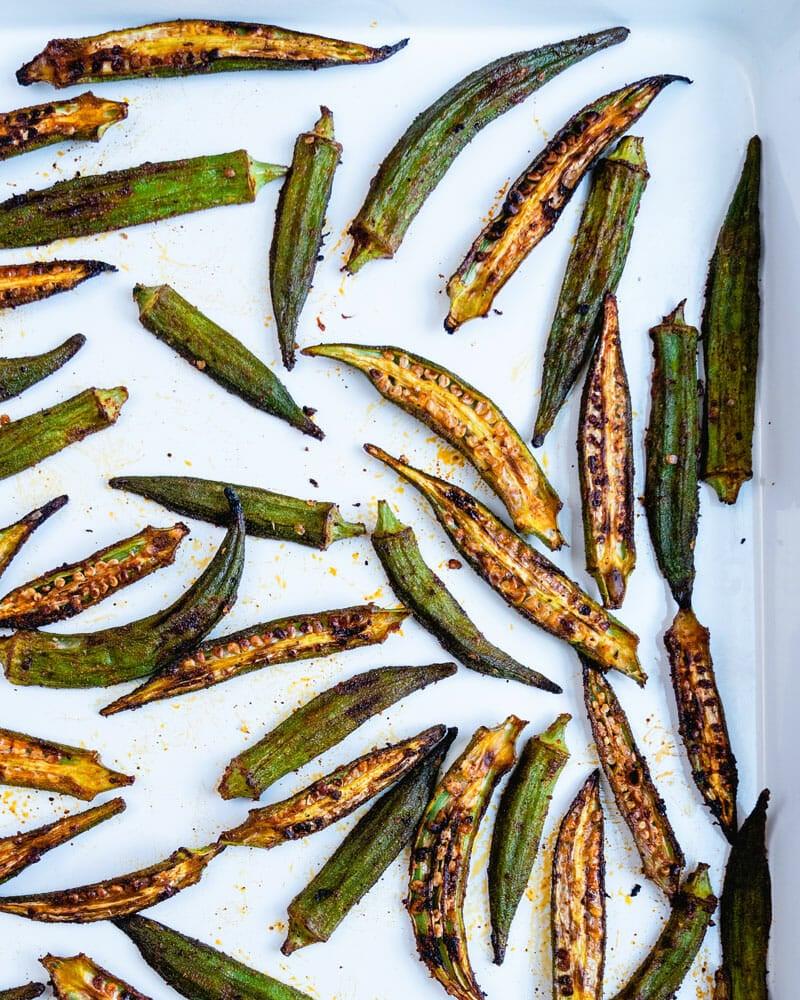 How to roast okra