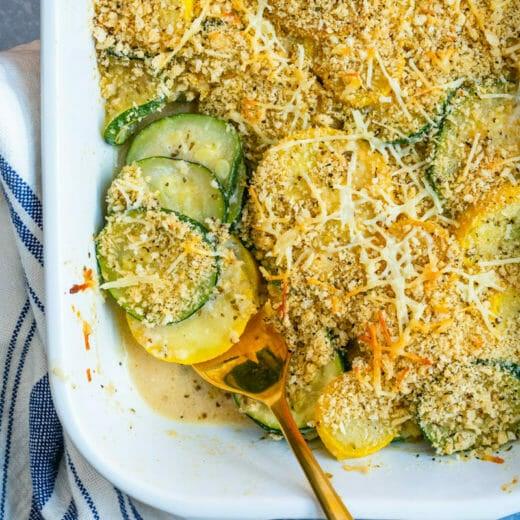 Yellow squash casserole