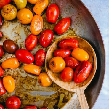 Blistered tomatoes