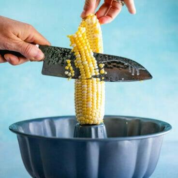 How to cut corn off of cob